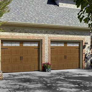 brown garage door