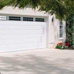 white traditional garage door