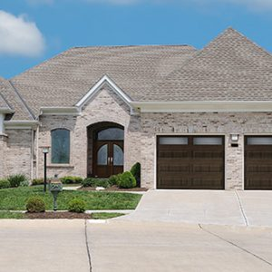 2 car brown traditional garage door