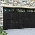 traditional double garage door