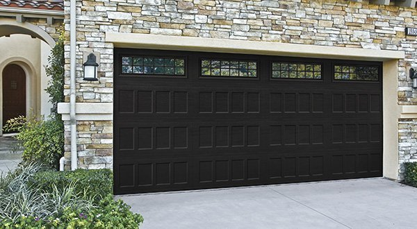 traditional double garage door