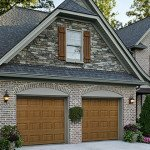2 car solid garage door
