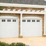 white traditional 2 car garage
