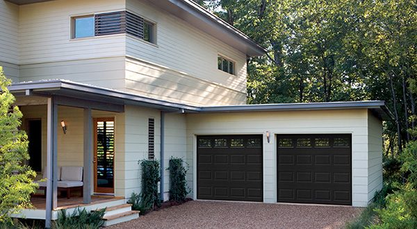 2 car traditional garage door