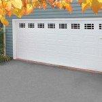 wide white garage door