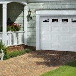 white single car garage door