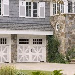white carriage house door