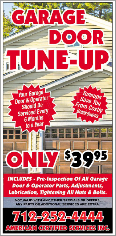 Garage Door Winter Tune Up Ad
