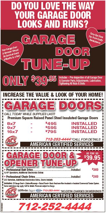 Garage Door Tune Up Valentine's Day